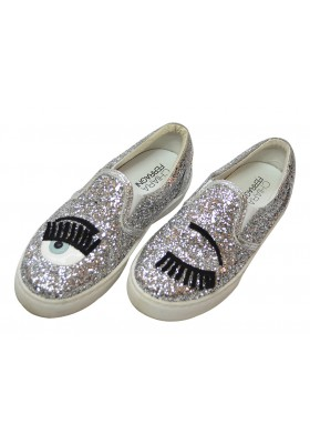 Chiara Ferragni Slipper silber - it piece!