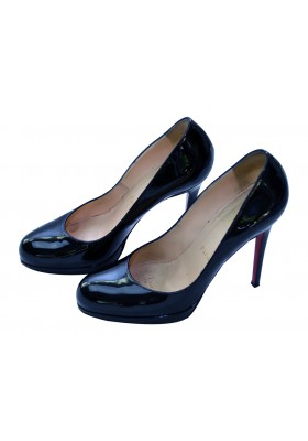 Christian Louboutin Pumps schwarzes Lackleder
