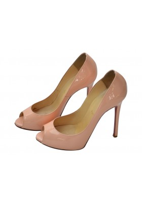 Christian Louboutin Peeptoes Lackleder rose